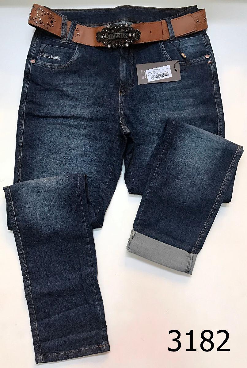 0bdda0f67 calça jeans oppnus feminina cós alto skinny lycra 3182. Carregando zoom.