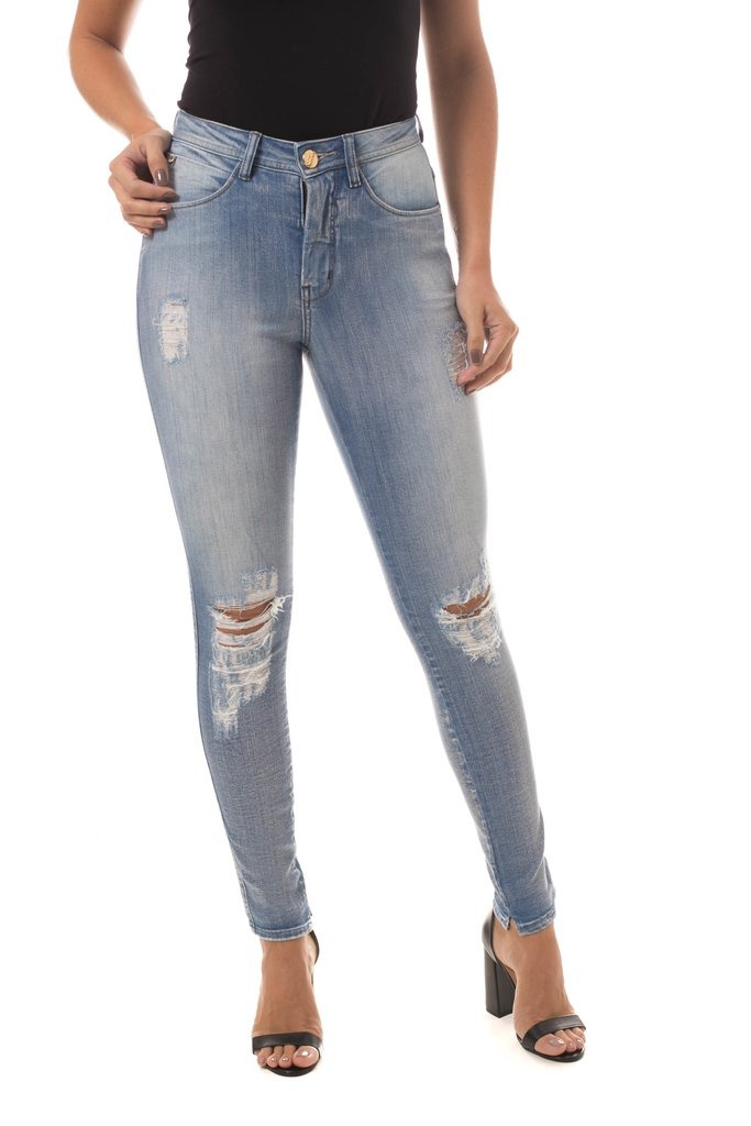 cc5815c53 Calça Jeans Osmoze Mid Rise Skinny Azul - R$ 319,90 em Mercado Livre