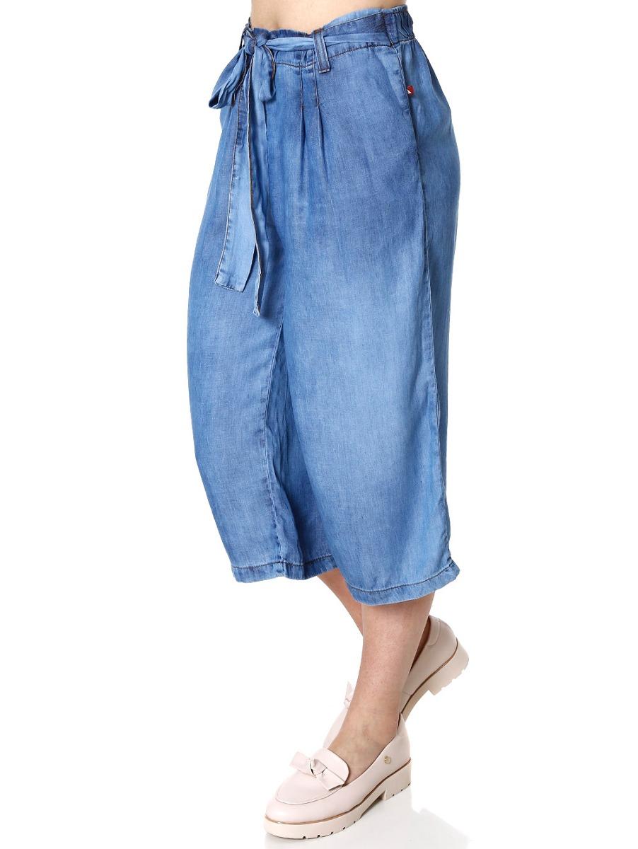 186842d43 calça jeans pantacourt feminina azul. Carregando zoom.