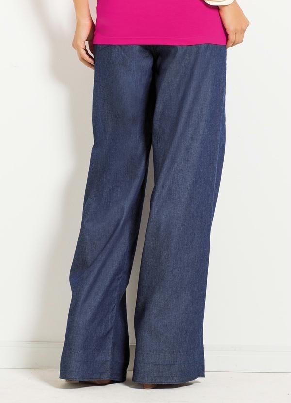 d2ef0c4ba calça jeans pantalona quintess. Carregando zoom.