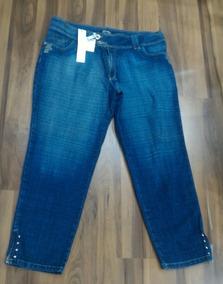 c8e4f05cf Calça Jeans Feminina Cavalera Boca De Sino Customizada 36 Tamanho 52 ...