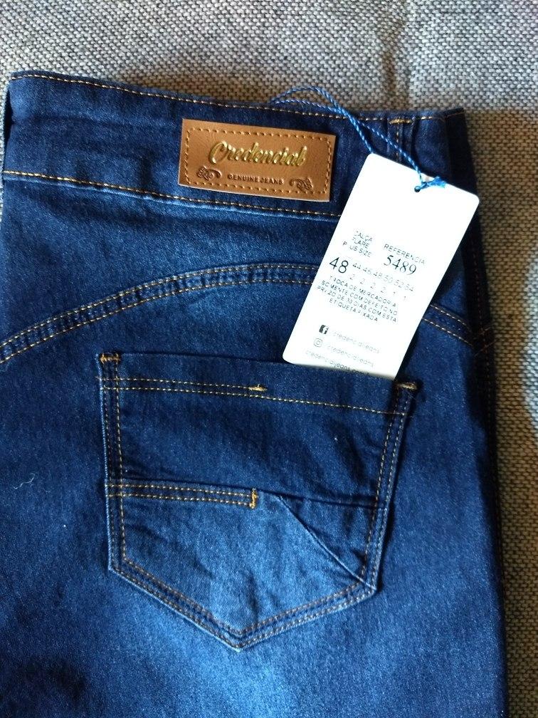 89eaea316 calça jeans plus size feminina flare cintura alta credencial. Carregando  zoom.