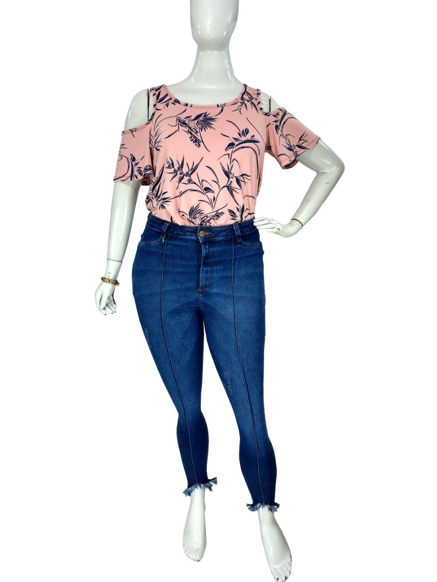 fdeadab93 calça jeans plus size feminina skinny cropped cambos linda. Carregando zoom.