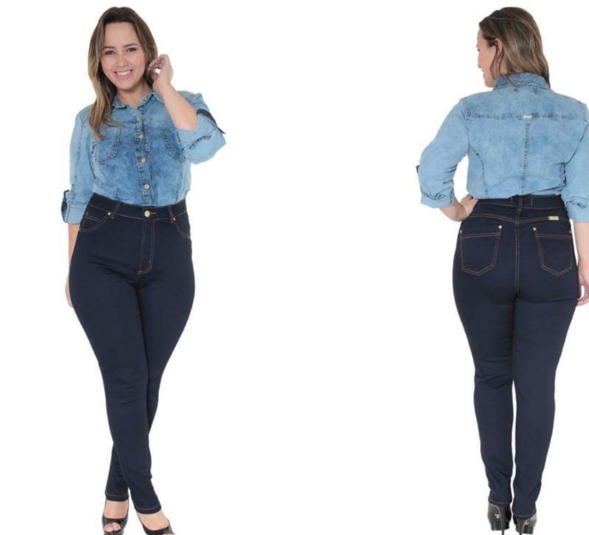 382c7e260 calça jeans plus size feminina tamanho grande com lycra. Carregando zoom.