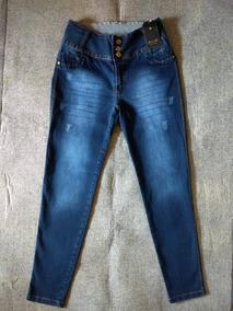 b041def19 Calça Jeans Feminina Botao Plus Size - Calçados