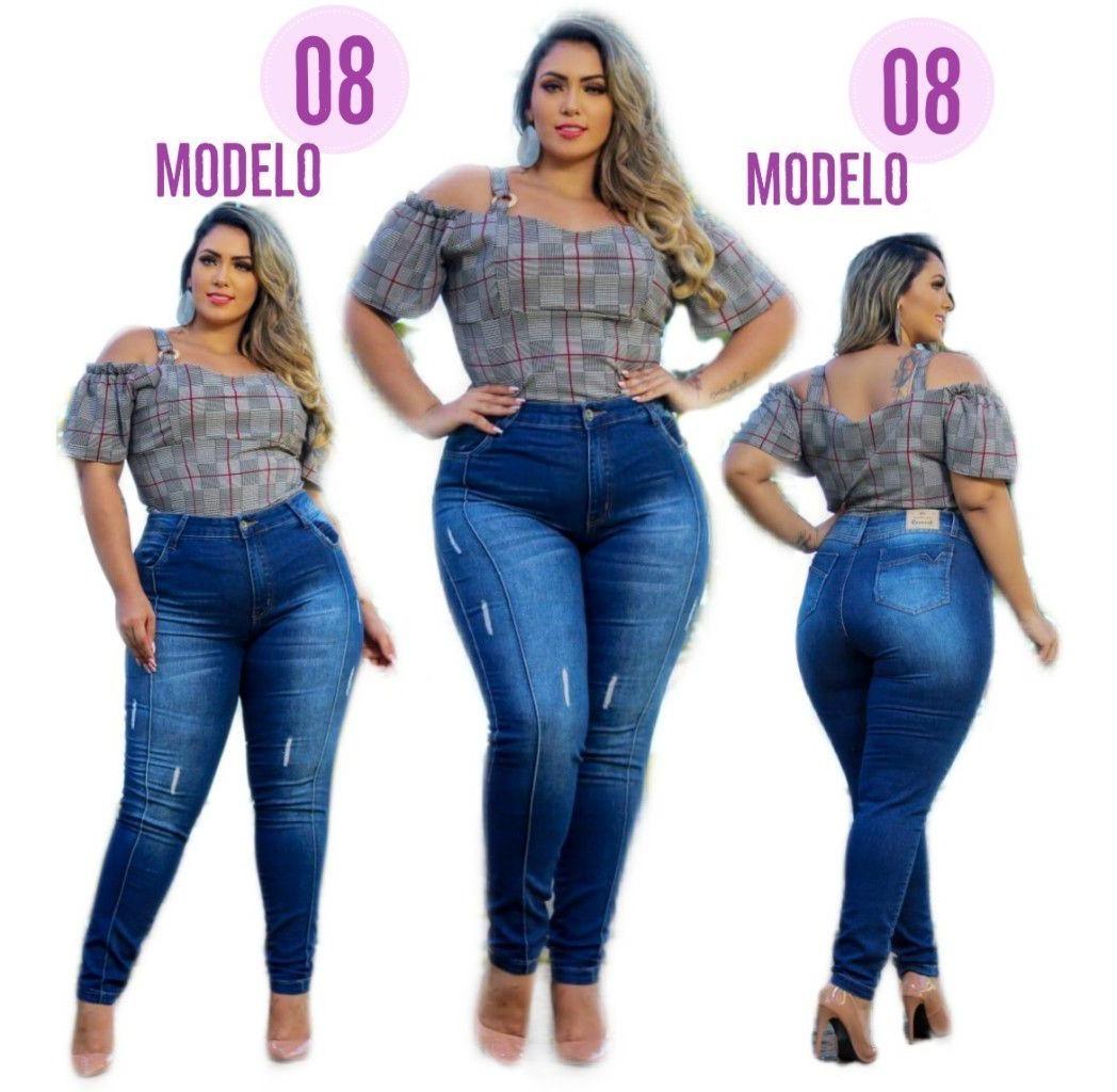 12e6b40ce calça jeans plus size gordinha na moda jeans lycra ref. 8. Carregando zoom.