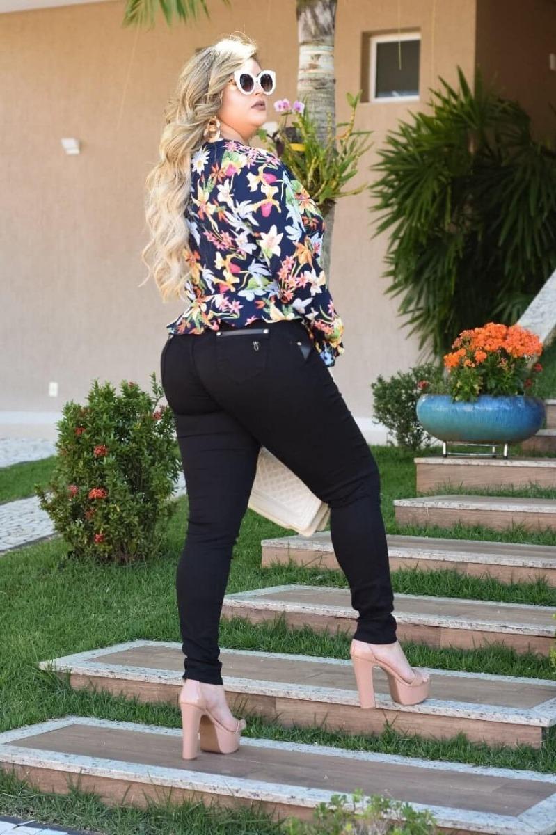 4d1c0ef42 Calça Jeans Plus Size Levanta Bumbum Marca Chic Lady - R$ 145,00 em ...