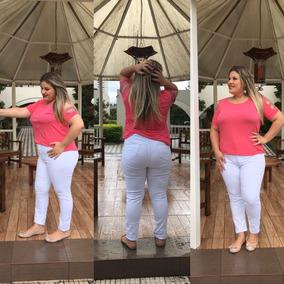 dded323db Calca Branca Plus Size Tamanho 52 - Calças 52 Azul marinho no Mercado Livre  Brasil