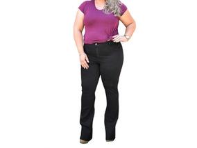f90d2085c9 Calça Jeans Feminina Plus Size Lycra Tamanhos Grande 46 A 60