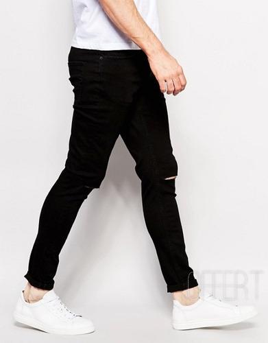 calça jeans premium masculina rasgada skinny lycra  offert