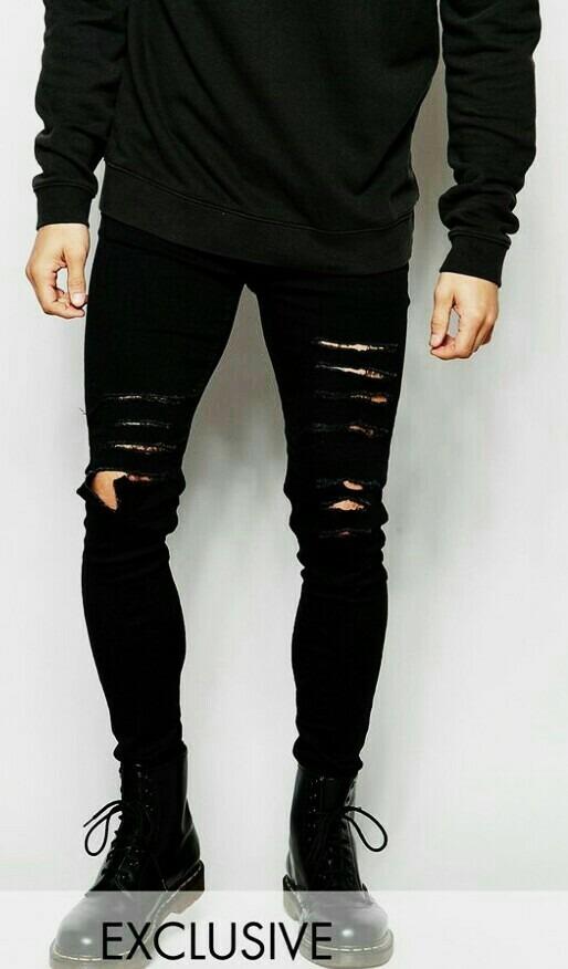 32cd30ecdbe82 calça jeans premium rasgada destroyed masculina skinny. Carregando zoom.