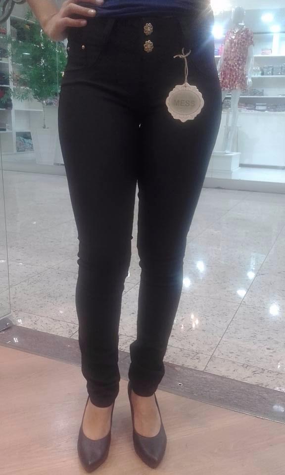 f91d43c75e calça jeans preta feminina cós alto skinny. Carregando zoom.