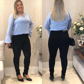 4f25b42fc Calca Jeans Cos Alto Plus Size - Calçados, Roupas e Bolsas no Mercado Livre  Brasil