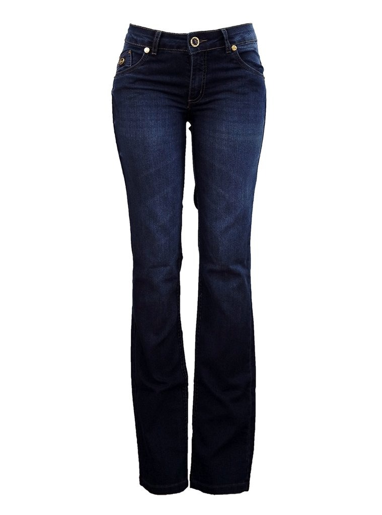 b4629174e Calça Jeans Reta Feminina Briks - Retook Jeans. - R$ 59,38 em ...
