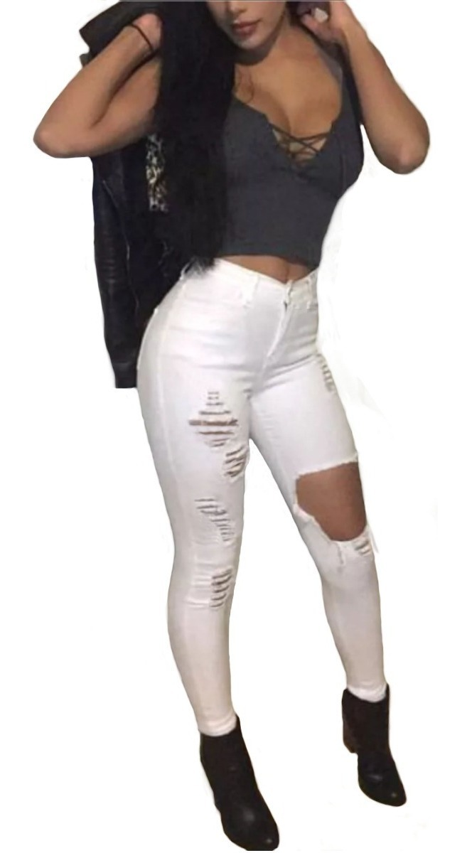 70474669dbb0 calça jeans roupa feminina cintura alta dins rasgada ref 37f. Carregando  zoom.