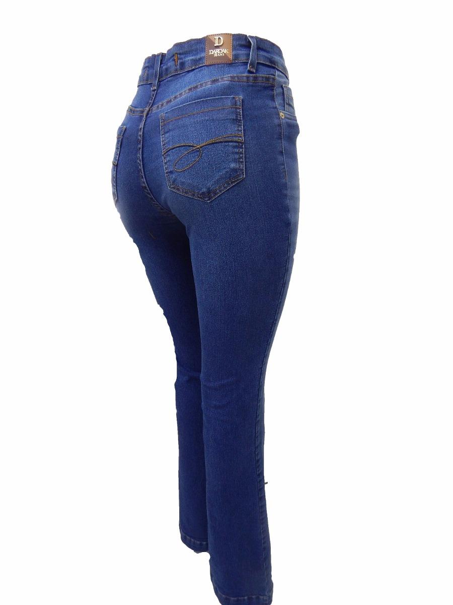 5cdfd1614 Calça Jeans Flare Lycra Cintura Alta Roupas Femininas 7424 - R$ 120 ...
