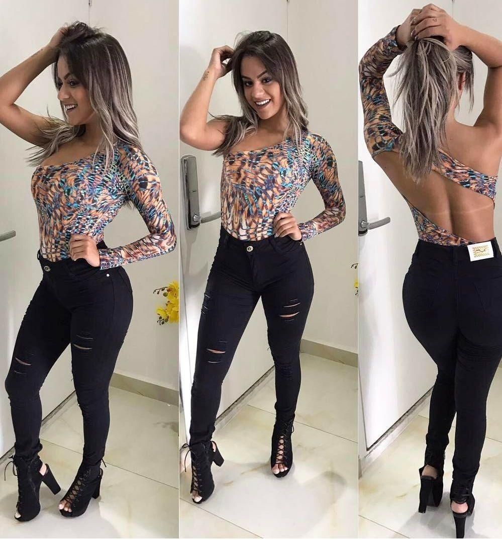 aa463b255 Calça Jeans Rasgada Roupas Femininas Cintura Alta 36 Ao 46 - R  139 ...