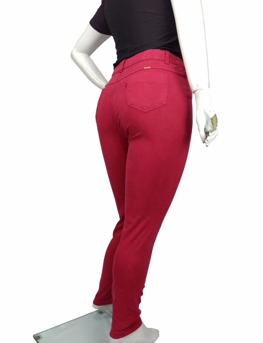 850a5b6bd calça jeans sarja feminina plus size c  lycra colorida. Carregando zoom.