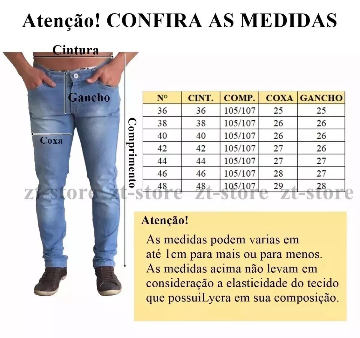 a14a547af calça jeans sarja masculina 3 peças skinny lycra colorida. Carregando zoom.