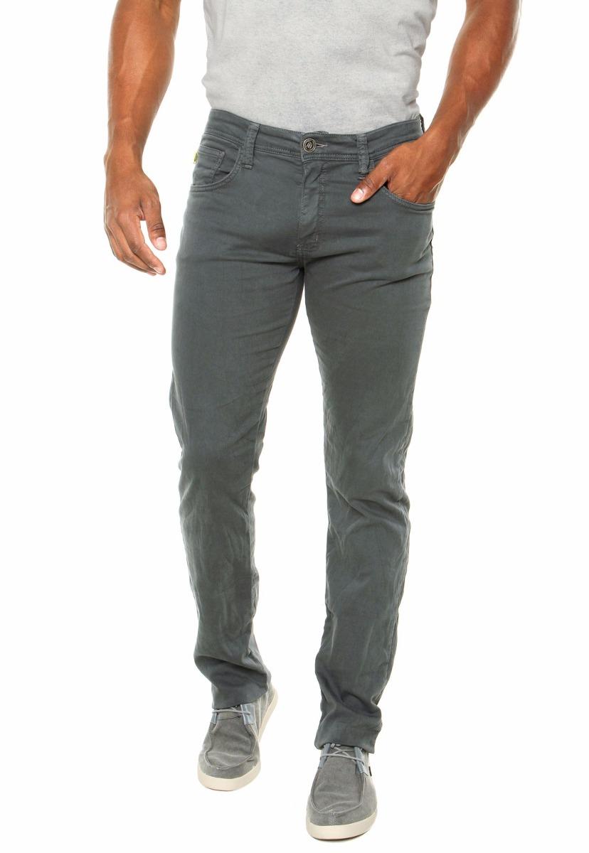 4a9b23a07 calça jeans sarja masculina slim fit c/ lycra colorida. Carregando zoom.