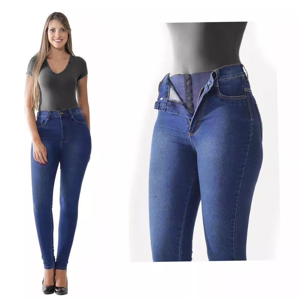 ff5306e2d Calça Super Lipo 986 Básica Azul Jeans Elegante Sawary Lycra - R ...