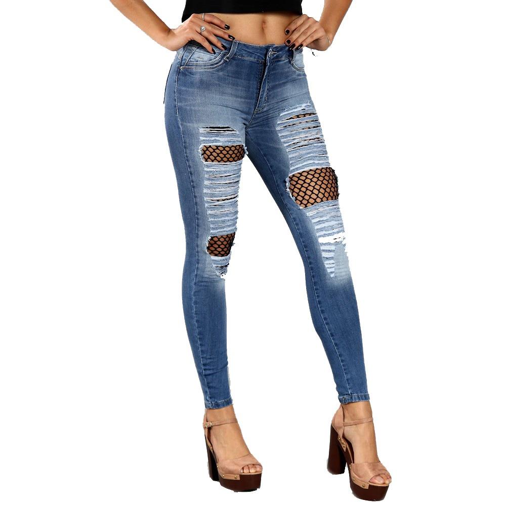 e0b85176d Calça jeans sawary rasgada com lycra skinny annita ref jpg 1000x1000 Sawary  calcas