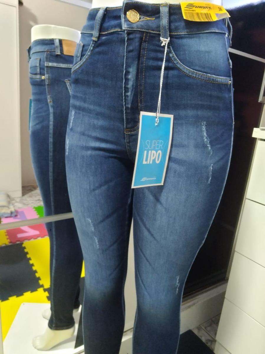 aa832f803 calça jeans sawary super lipo cintura alta. Carregando zoom.