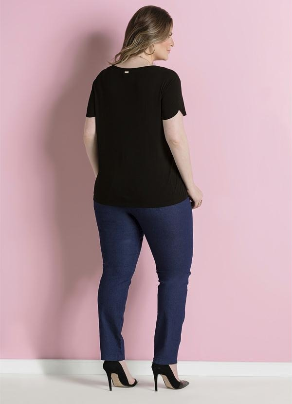 calça jeans skinny azul cintura alta plus size quintess. Carregando zoom. 6c4d035bedc