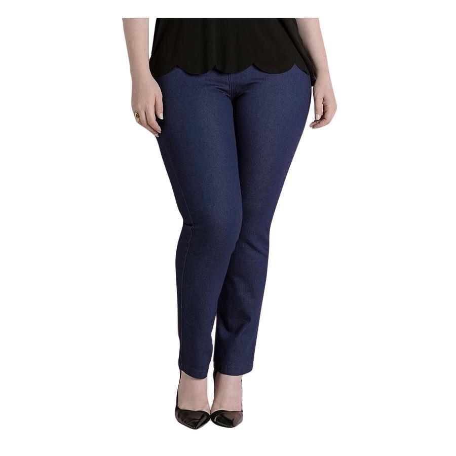 9f1ae551159f1 calça jeans skinny azul cintura alta quintess plus size. Carregando zoom.