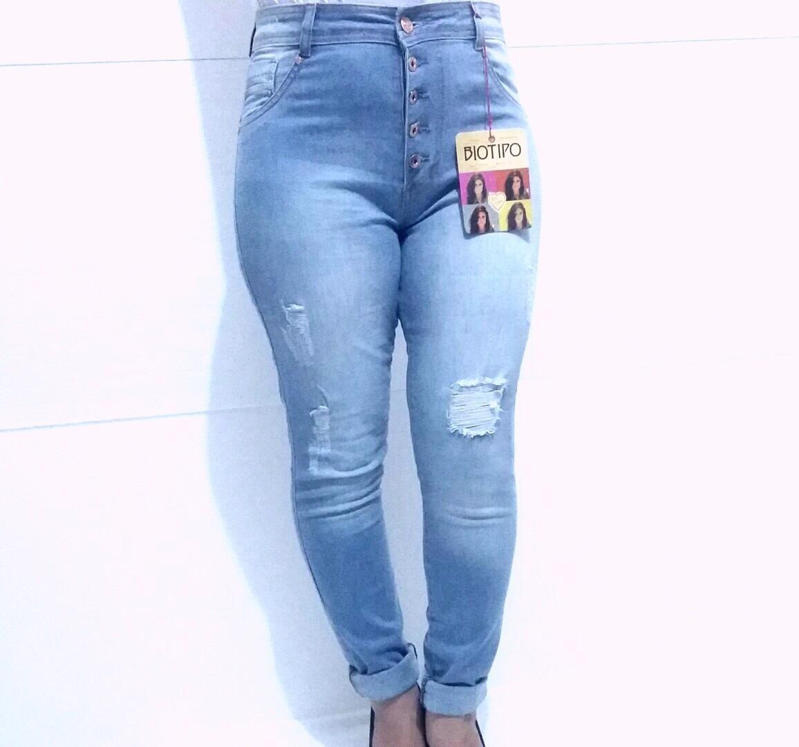 1f9ebb56e calça jeans skinny cintura alta feminina biotipo da moda. Carregando zoom.