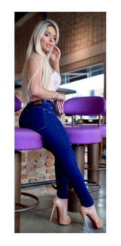 calça jeans skinny cintura alta levanta bumbum premium luxo