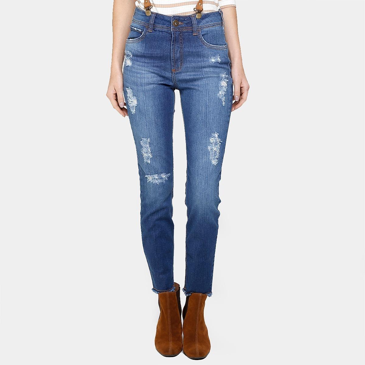 247e6bcad Calça Jeans Skinny Colcci Bia Suspensório - R$ 469,90 em Mercado Livre