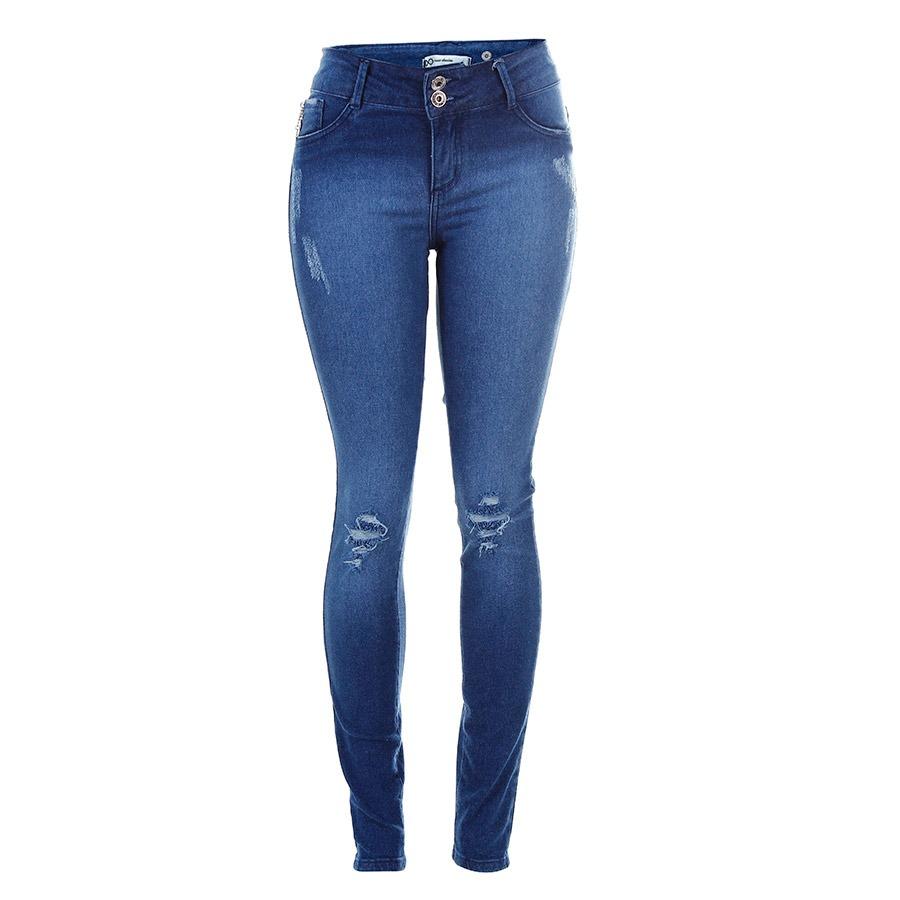 e5a139f565 calça jeans skinny destroyed feminina max denim. Carregando zoom.