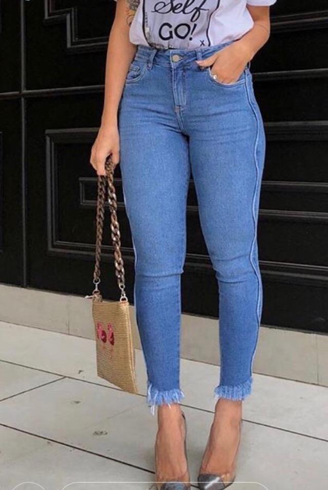 39efa2913 Calça Jeans Skinny Feminina Cintura Alta - R$ 279,00 em Mercado Livre