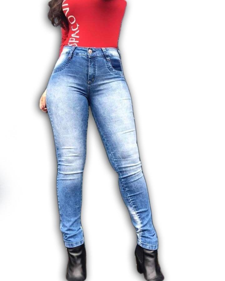 6f2a46e10d calça jeans skinny feminina cós alto com lycra spaço vagun. Carregando zoom.