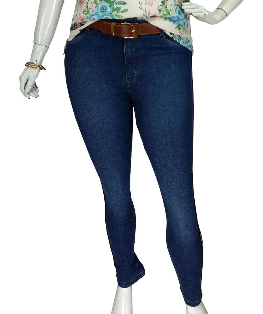 90679af533 calça jeans skinny feminina plus size c  lycra alta cambos. Carregando zoom.