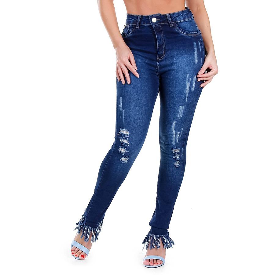 4cece7b6d2 calça jeans skinny hot pants feminina max denim. Carregando zoom.