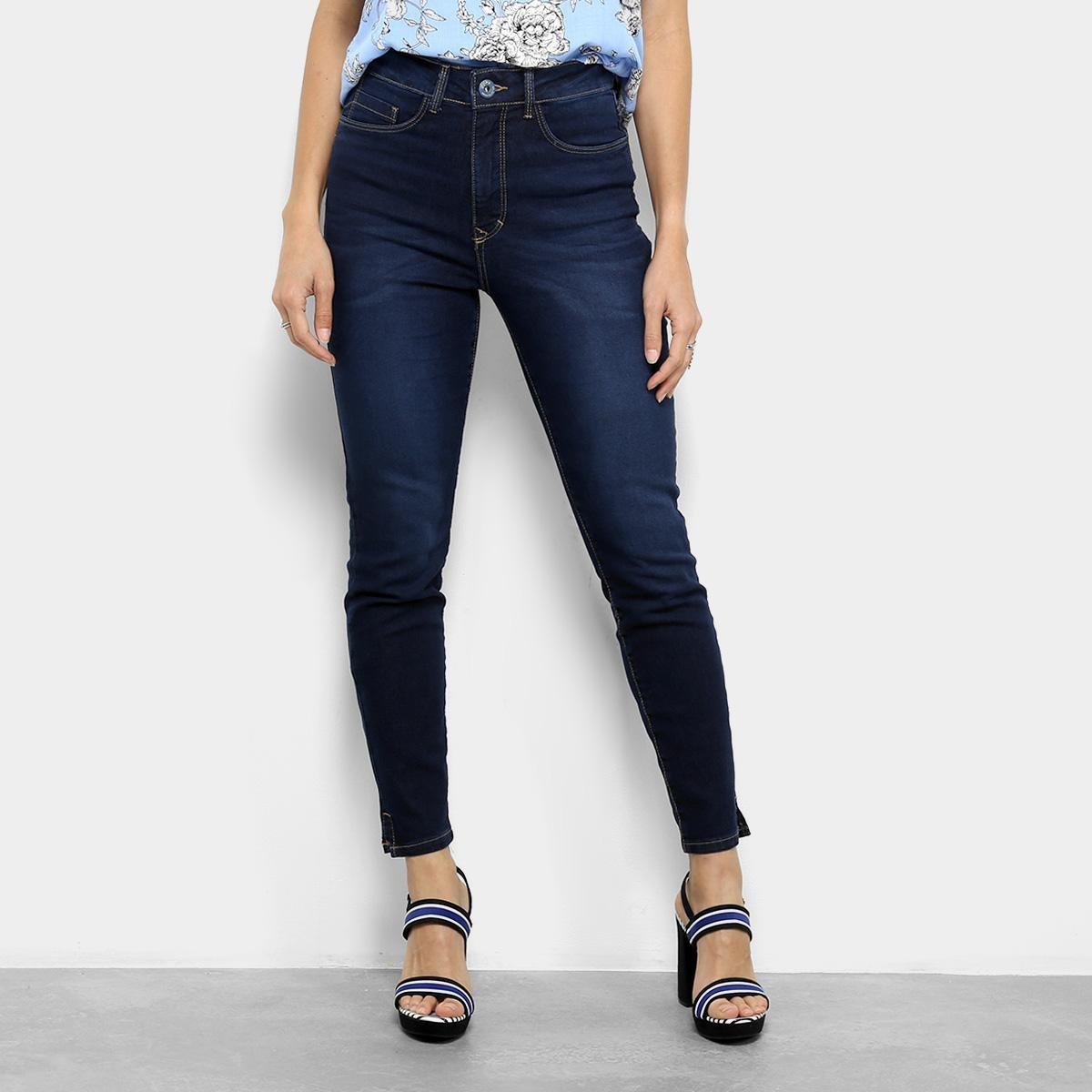 6bf26e7be calça jeans skinny lez a lez estonada cintura média feminina. Carregando  zoom.
