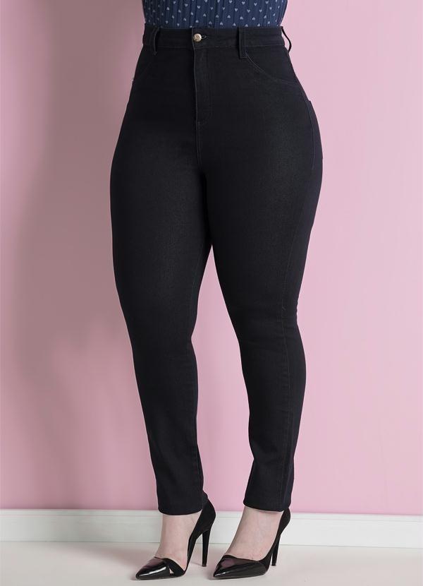 444ecfae7 Calça Jeans Skinny Marinho Plus Size Quintess - R$ 129,50 em Mercado ...