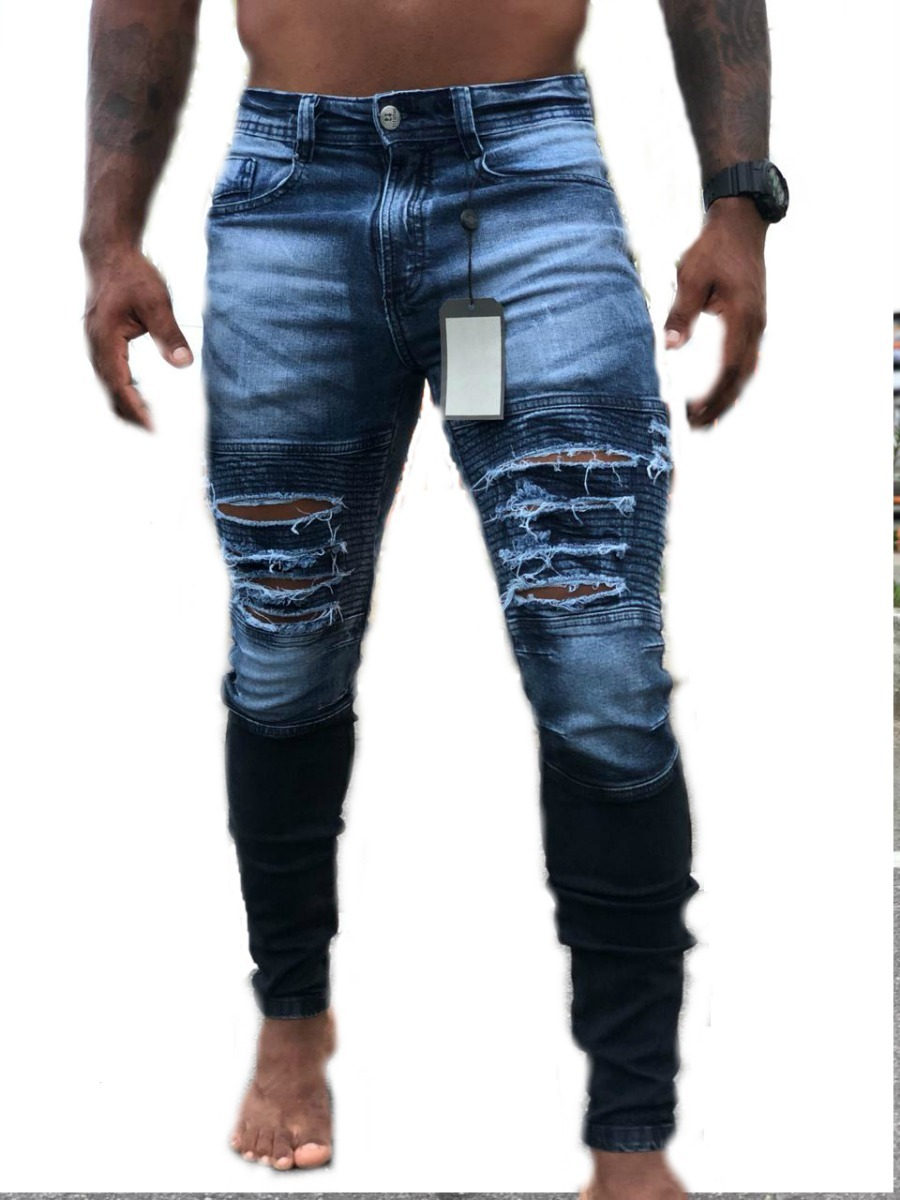 calça jeans skinny masculina premium titular destroyed. Carregando zoom. 3ede2d4f6da