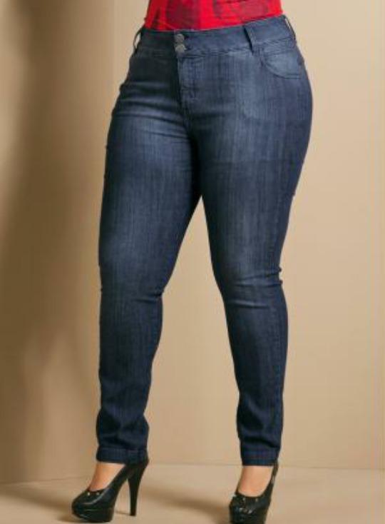 Calca Jeans Skinny Plus Size Azul Quintess Queima De Estoque - R ... eb018cc2e40