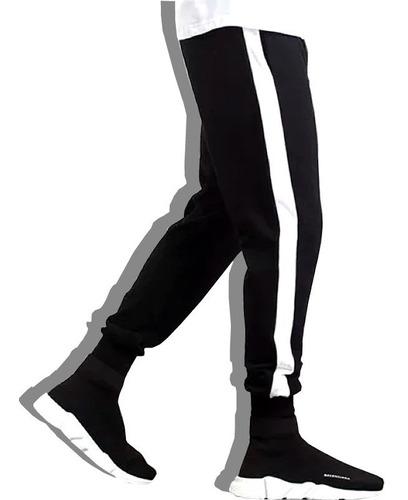 calça jogger feminina moletom v90 listra / faixa lateral