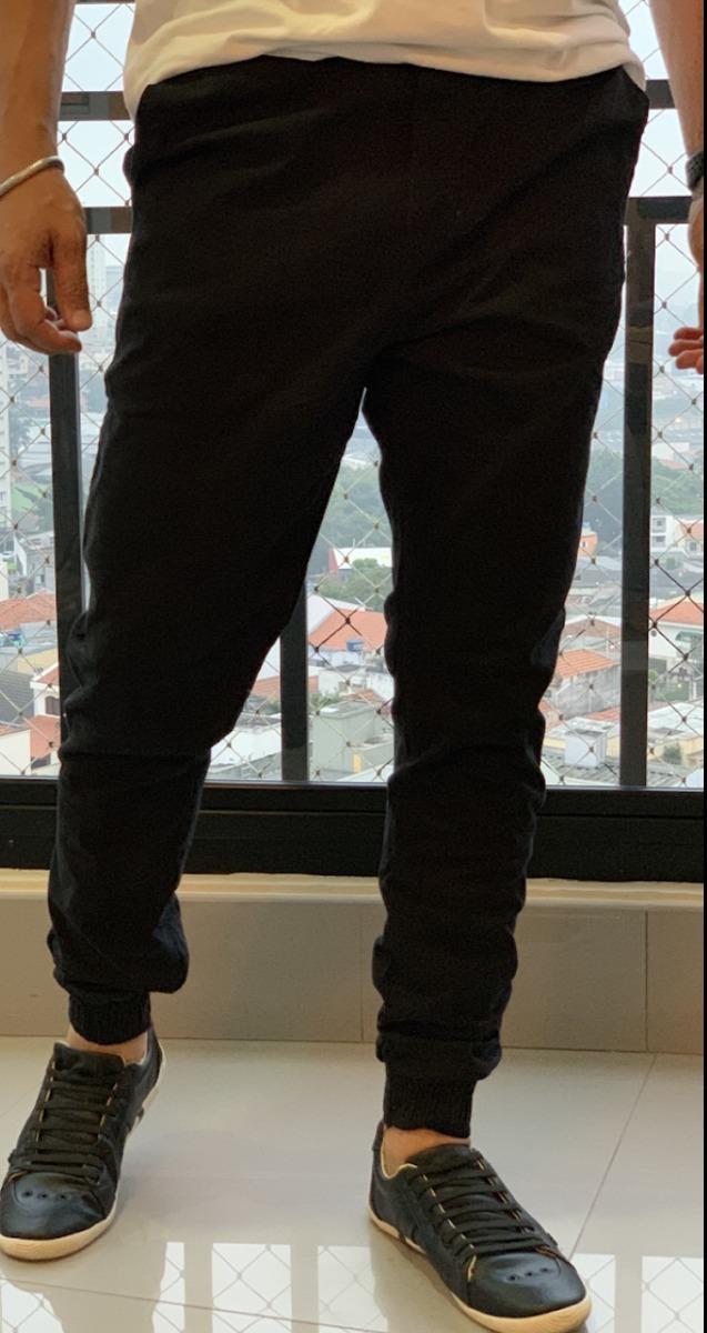 1818d62ca calca jogger masculina sarja com punho skinny. Carregando zoom.