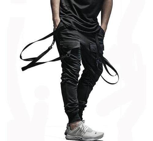 calça jogger masculina suspensorio - calça jogger moletom