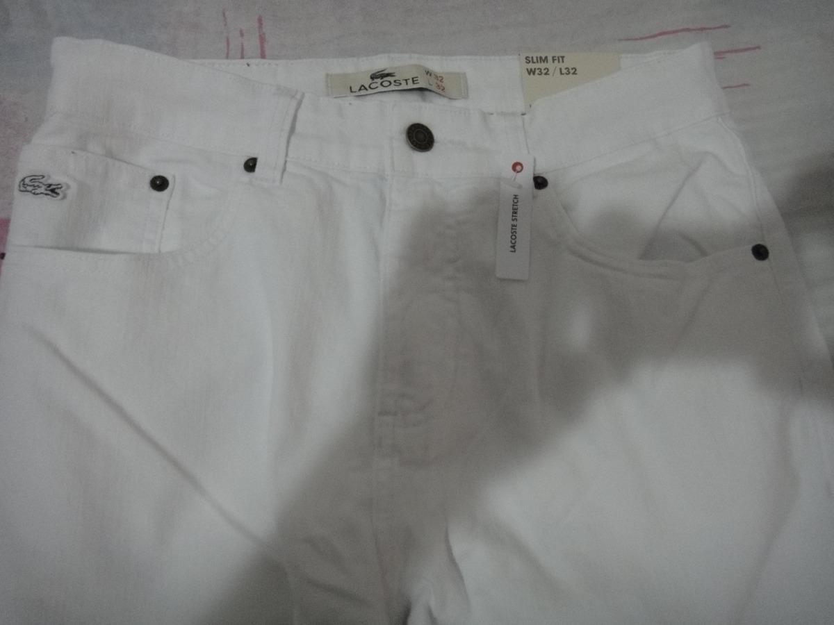 3080caf34b8dc calça lacoste original branca tamanho 40 altissima qualidade. Carregando  zoom.