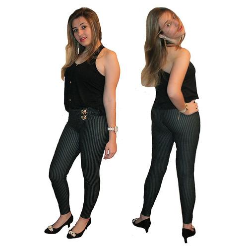 calça legg básica com passantes bolsos cintos blusas