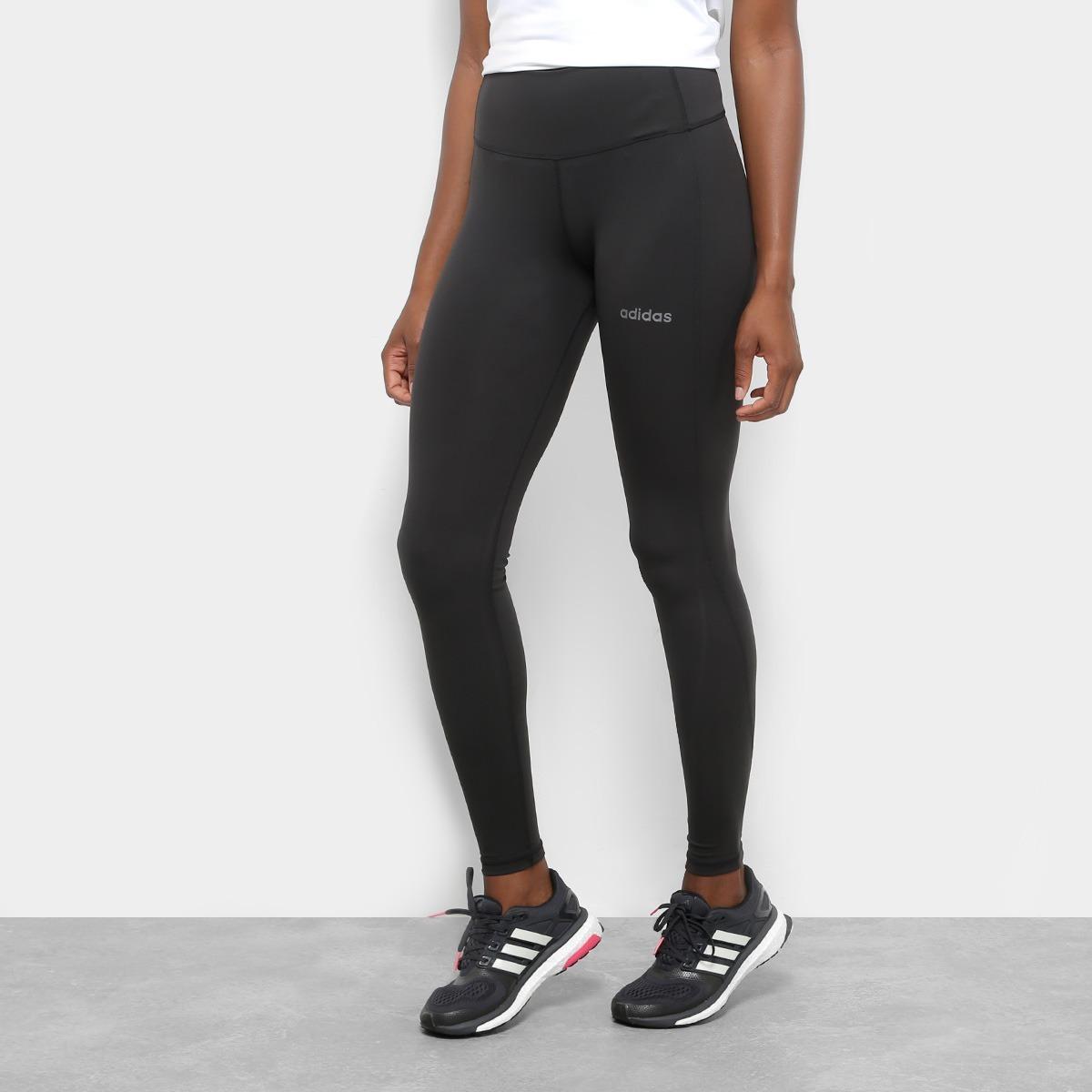 bcdca02bb calça legging adidas design 2 move regular feminina - preto. Carregando zoom .