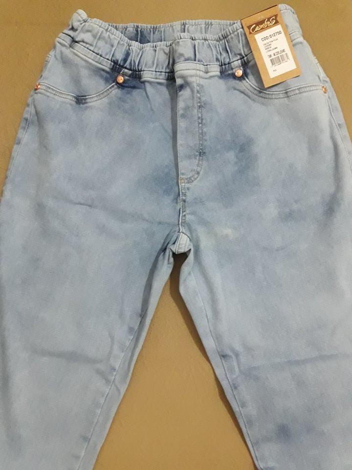 26288d0072 Calça Legging Cambos Jeans Feminina Plus Size Moda Grande - R  122 ...