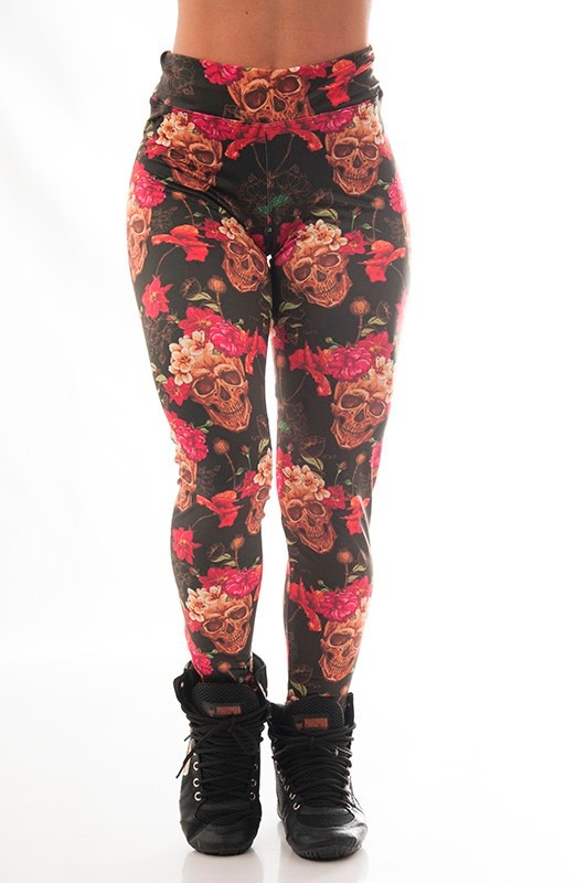 d3d270c61 calça legging caveira flores academia maromba moda fitness. Carregando zoom.