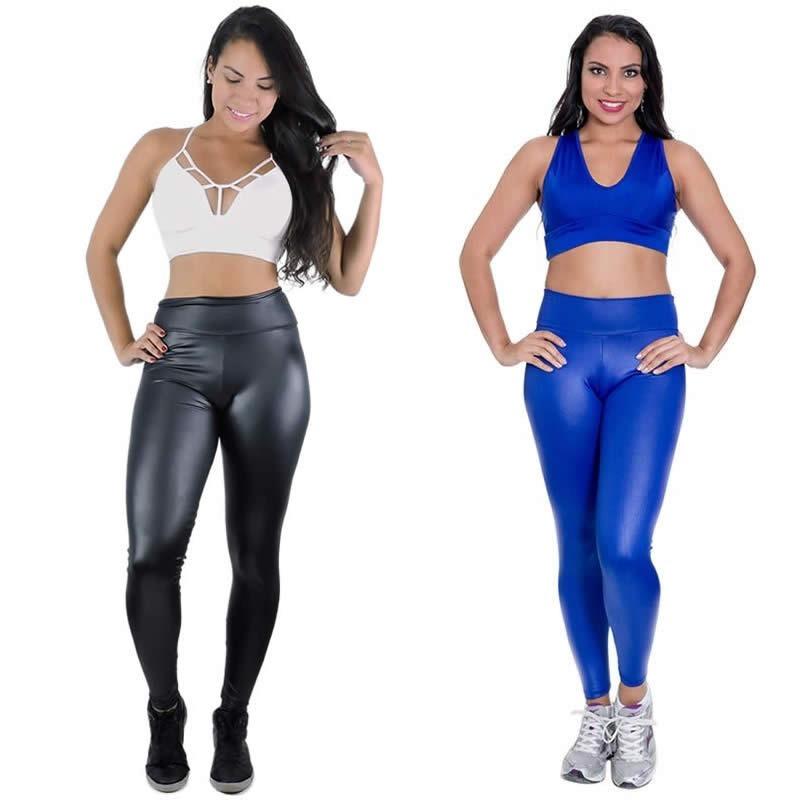 bed241210 Calça Legging Cirrê Azul P M G - Uso Em Qualquer Ocasião - R  79